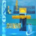 De zaaier, ode aan Vincent van Gogh 100 x 100 cm. 2015