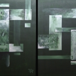 Bosmos 2 luik 50 x 70 cm. 2009